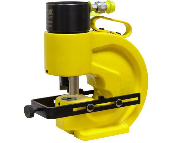Шинный перфоратор с автоматическим прижимом шины и параллельным упором ШП-110АП+