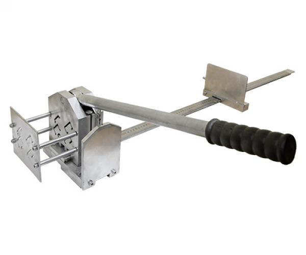 Multi-purpose cutter RRU-40 of mounting rails and punched busbars