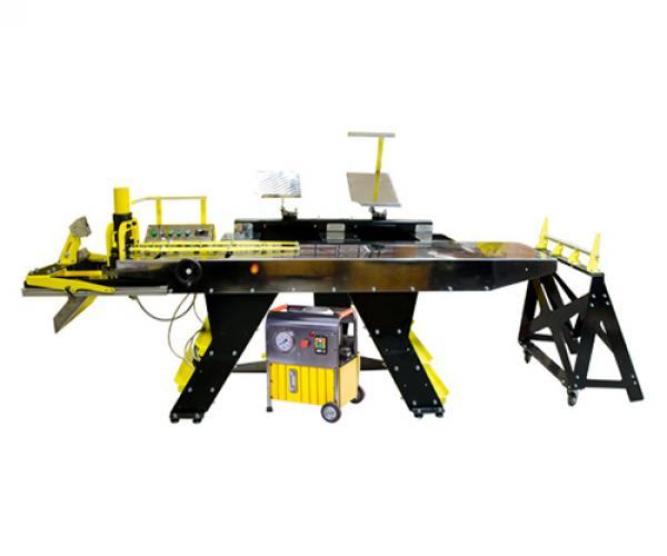 Линия полуавтоматическая ЛПА-6РШ для резки шины в комплекте с шинорезом и маслостанцией SHTOK.