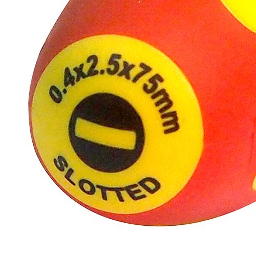 Отвертка диэлектрическая Sl 2.5х0.4х75 мм