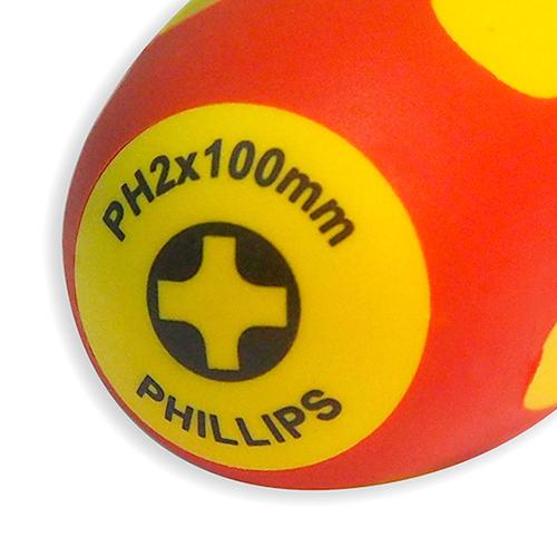 Отвертка диэлектрическая Ph 2х100 мм